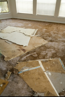 Signs of indoor water damage